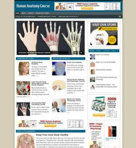HUMAN ANATOMY WEBSITE / STORE + AFFILIATE OPTIONS &  NEW DOMAIN