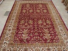 Love Medallion Floral Rectangle Area Rug Hand Knotted Wool Silk Carpet (9 x 6)'