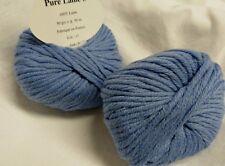 8 pelotes 100 % pure laine couleur bleue 17- fabriqué en France