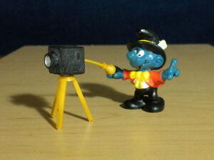 Smurfs 40217 Photographer Smurf Camera Vintage Toy Figure PVC Figurine Lot 80s