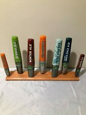 Beer Tap Handle Display Stand Holds 7 Tap Handles Classic Oak Stain