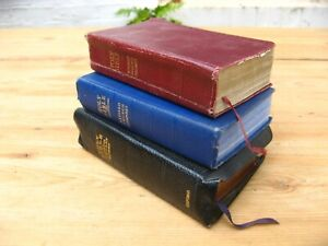 Vintage Holy Bibles Books x 3 leather
