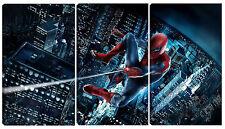 Quadro Pannello in Legno Stampa Spiderman Cinema Quadri Moderni Vernice Pennello