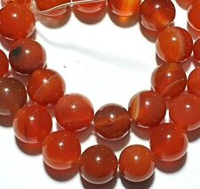 15in Red Agate Round 10mm Gemstone Beads Jewellery Making Size 10 mm RSPCA
