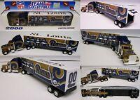 2000 St. Louis Rams Truck Trailer Metal Die Cast Scale 1:80