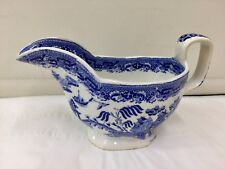 Antique Willow Pattern Sauce Boat circa 1850