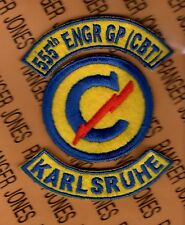 US Army 555th Combat Engineer Group Constabulary Karlsruhe patch tab set