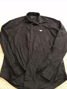 Emporio Armani Long Sleeve Shirt Size Large Black