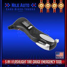 5 in 1 Flashlight Tire Pressure Gauge Emergency LCD Display Tool Car Motor Auto