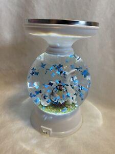 Bath & Body Works Easter Bunnies Pedestal Candle Holder Globe Lights Up~Spring~
