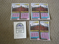 Colorado Rockies 1995 Schedule and Ballpark Bucks Lotto Tickets Used