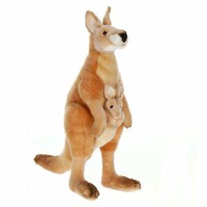 "NEW - Kangaroo Plush Stuffed Animal 17"" (Mom / Mama & Joey) by Hansa Toys 3642"