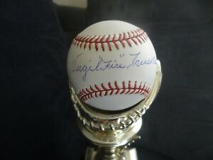 Virgil Fire Trucks signed Baseball w/Global Detroit Tigers Pittsburgh Pirates