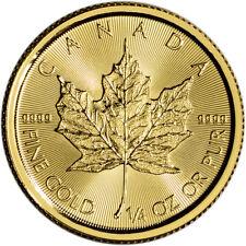 2018 Canada Gold Maple Leaf 1/4 oz $10 - BU