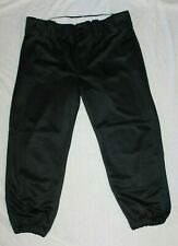 Alleson Athletic Women's Black Baseball Softball Fast Pitch Pants Large NICE