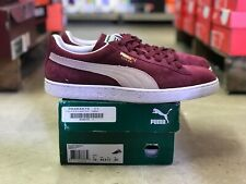 8a7facd9a766 Puma Classic + Mens Suede Low Top Shoes Red Cabernet Burgundy 352634-75