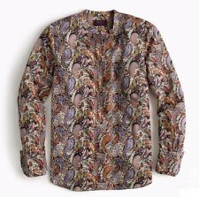 J. Crew Liberty of London Popover Blouse Eastern Voyage Paisley Print Size 2 NWT