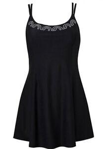 Magisculpt Black Flatter Me Swimdress Size UK 20 B4