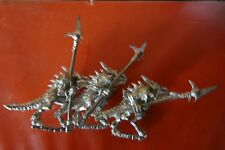 3x Temple guard Lizardman metal citadel gw games workshop lizardmen warriors