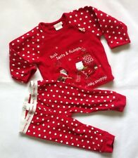 Baby Boys 9-12 Months Mamas And Papas Red Xmas Top And Bottom Set
