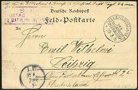 113/DP China Postkarte Feldpost KD Feldpostexpedition b 20/3/1901 Leipzig