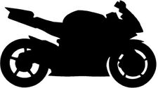 """YAMAHA R1 MOTORCYCLE Vinyl Decal Sticker-6"""" Wide White Color"""