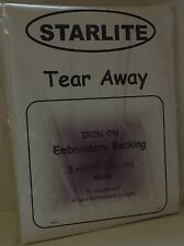 Starlite tear away broderie soutien / stabliser-iron on 5mtrs x 90cms-A985