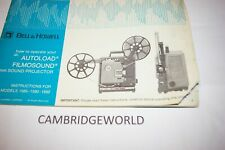 BELL&HOWELL 16mm FILMOSOUND PROJECTOR  INSTRUCTION MANUAL GUIDE BOOK ORIGINAL
