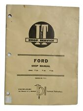 1940-50 I&T Shop Service Ford Shop Manual for Tractors # FO-4 Series 2N, 8N, 9N