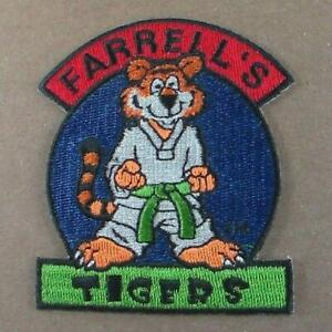 Vintage Farrell's Tigers Embroidered Patch Martial Arts