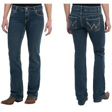 WRANGLER WOMENS PREMIUM PATCH BOOTY UP MAE JEANS US 13/14 AUS 18