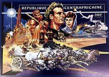 1995 MNH CENTRAL AFRICA BEN HUR STAMPS SOUVENIR SHEET CHARELTON HESTON