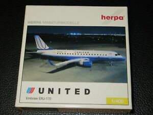 Herpa 1:400 United Express Embraer E170 Tulip Livery Excellent Condition in box