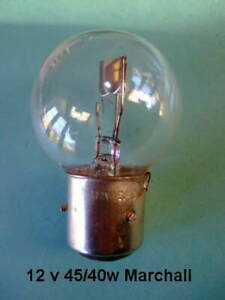 12 volt 45/40w Marchal type light bulb for vintage and classic cars