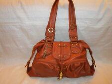 Damen Tasche Shopper Rost Braun Gold Kunstleder groß 37 9 28 cm