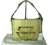 Authentic MARC Jacobs Leather Light Beige Shoulder Bag Women Purse 01990S Italy