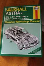 Vauxhall ASTRA 1980 - OCT 1984 W to B Reg Haynes workshop Manual 635