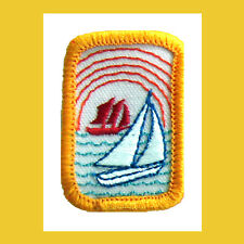 SMOOTH SAILING Girl Scout Interest Project Patch Badge Multi=1 Ship Chrg Boat