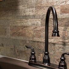 Peel And Stick Tile Self Adhesive Stone Wall Bath Kitchen Backsplash Brown Beige