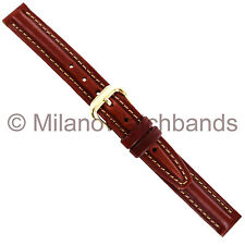 14mm Kreisler Chestnut Tan Italian Calf Genuine Leather Ladies Watch Band BOGO!