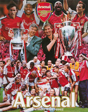 SMALL POSTER:SOCCER: ARSENAL FBC - DOUBLE WINNERS -  FREE SHIP #MP0284   LC22M-R