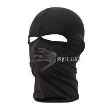 Unisex Outdoor Motorcycle Full Face Mask Balaclava Ski Neck Protection Black New