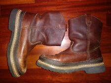 Little GEORGIA Kids Boys Youth Giant Wellington Brown Leather BOOTS 4M