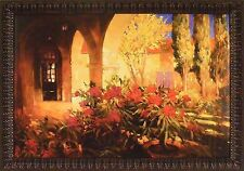 TWILIGHT COURTYARD by Philip Craig FRAMED PRINT 28x40 Garden Archway Flowers