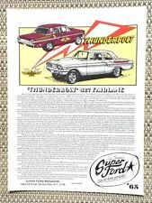 1964 FORD THUNDERBOLT T-BOLT 427 HIGHRISER FACTORY DRAG LITERATURE FACT SHEET 65