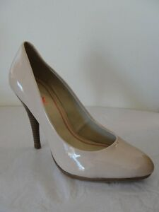 NEW Luxury Rebel Taylor Patent Leather Pump Shoes Tan Sz 40/10
