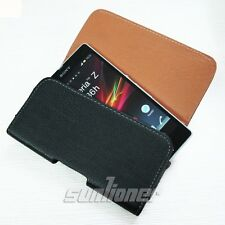 Leather Case Cover Pouch Holster with Belt Clip for Sony Xperia Z L36H C660X