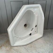 More details for antique victorian reclaimed ceramic corner basin sink