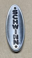 VINTAGE 70's SILVER CHICAGO SCHWINN HEAD BADGE NAME PLATE with SCREWS
