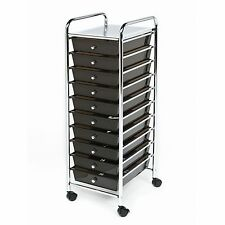 Black Color Drawers Metal Rolling Cart Scrapbook Supply & Paper Storage Hobby